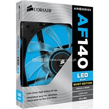 Corsair Air Series AF140 CO-9050017-BLED 140mm Blue LED Quiet Edition High Airflow Fan