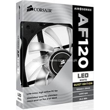 Corsair Air Series AF120 CO-9050015-WLED 120mm White LED Quiet Edition High Airflow Fan