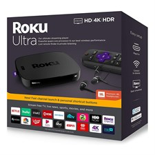 Roku Ultra Streaming Media Player 4K/HD/HDR With Premium JBL Headphones