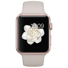 Apple Watch 42mm Rose Gold Aluminum Case with Stone Sport Band
