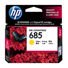 HP 685 Yellow Original Ink Advantage Cartridge (CZ124AA)