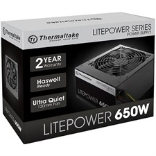Thermaltake Litepower 650W (230V) Power Supply (LTP-0650P-2)