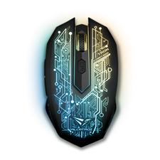 Alcatroz X-Craft AIR Tron 5000 2.4 Wireless Optical Sensor Gaming Mouse