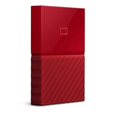 WD - My Passport 1TB External USB 3.0 Portable Hard Drive - Red (WDBYNN0010BRD)