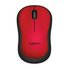 Logitech M221 Silent Wireless Mouse - Red- 910-004884