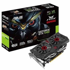 Asus STRIX-GTX1060-DC26G Strix GeForce® GTX 1060 6GB GDDR5 Video Graphics Card