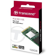 Transcend PCIe SSD 110S 128GB NVMe PCIe M.2 Solid State Drive TS128GMTE110S