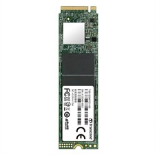 Transcend PCIe M.2 SSD 512GB Solid State Drive, NVMe PCIe Gen3 x4 80mm, TS512GMTE110S