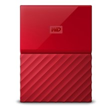 WD My Passport 4TB External USB 3.0 Portable Hard Drive - Red
