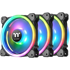 Thermaltake Riing Trio 12 LED RGB Radiator Fan TT Premium Edition (3-Fan Pack) - CL-F072-PL12SW-A