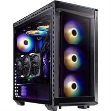 XPG BattleCruiser Mid-Tower 4 RGB Fans Tempered Glass Panel PC Case Black