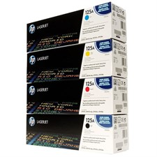 HP 125A 4-pack Cyan/Magenta/Yellow/Black Original LaserJet Toner Cartridges