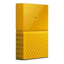 WD - My Passport 1TB External USB 3.0 Portable Hard Drive - Yellow (WDBYNN0010BYL)