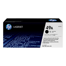 HP 49A Black Original LaserJet Toner Cartridge, Q5949A