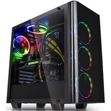 Thermaltake View 21 Tempered Glass Edition Mid-Tower Chassis - CA-1I3-00M1WN-00