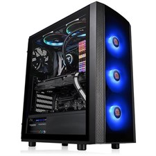 Thermaltake Versa J25 Tempered Glass RGB Edition Mid-Tower Chassis CA-1L8-00M1WN-01