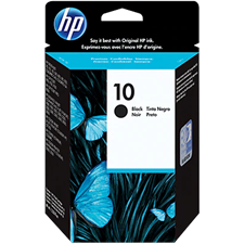 HP 10 Black Original Ink Cartridge, C4844A