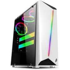 1stPlayer Rainbow-R3 Gaming Case, Without Fans (White)