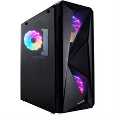 1stPlayer F4 FireRose Series ATX Case with 3 x A2 RGB Fans