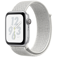Apple Watch Series 4 MU7F2 Nike+ Silver Aluminum Case with Summit White Nike Sport Loop 40mm GPS
