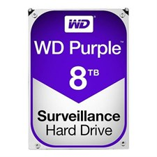 WD Purple 8TB Surveillance Hard Disk Drive - Intellipower SATA 6Gb/s  3.5 Inch