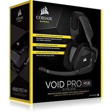 Corsair VOID PRO RGB Wireless Premium Gaming Headset with Dolby Headphone 7.1 - Carbon (AP) - CA-9011152-AP