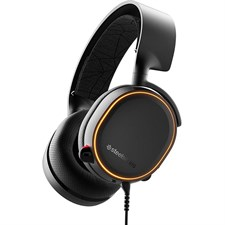 SteelSeries Arctis 5 (2019 Edition) RGB Illuminated Gaming Headset for PC and PlayStation 4 - Black - 61504