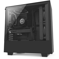 NZXT H500 Compact Mid-Tower Case with Tempered Glass - Matte Black