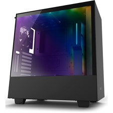 NZXT H500i Compact Mid-Tower Case with Lighting and Fan Control - Matte Black