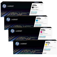 HP Complete HP Color Toner Set - 410A, Black, Cyan, Yellow & Magenta
