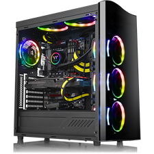 Thermaltake View 22 TG Tempered Glass Edition Mid-Tower Chassis - CA-1J3-00M1WN-00