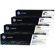HP 130A 4-pack Cyan/Magenta/Yellow/Black Original LaserJet Toner Cartridges