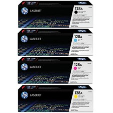 Hp 128a Color Laserjet Toner Cartridge Set Ce320a, Ce321a, Ce322a, Ce323a