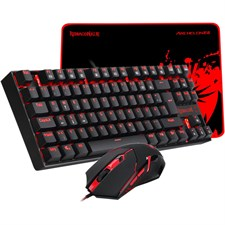 Redragon K552-BA-2 Gaming Essentials Keyboard Mouse and Mouse Pad 3-in-1 Set