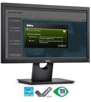 Dell 19 Monitor | E1916H - Eco-conscious and reliable