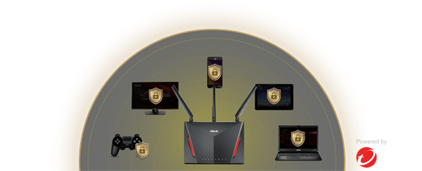 ASUS RT-AC86U router features AiProtection providing internet security for all connected devices