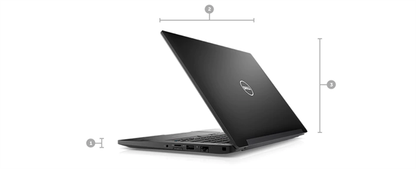 Latitude 7480 - Dimensions and Weight