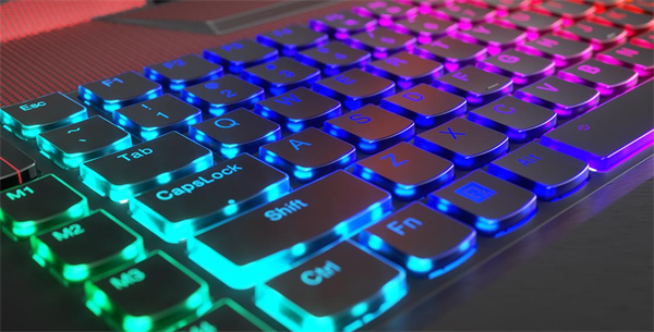 Lenovo Legion Y920 mechanical backlit keyboard detail