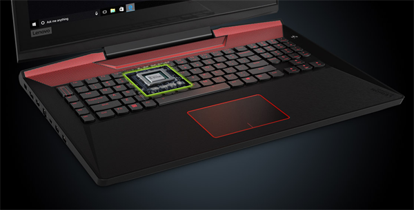 Lenovo Legion Y920 with transparent keyboard to highlight NVIDIA G-SYNC technology